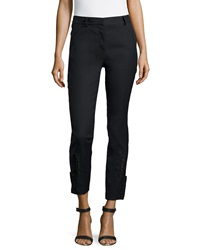 Philosophy Di Alberta Ferretti Button Cuff Cropped Slim Pants Black