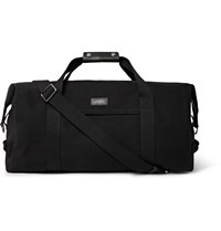 Saturdays Surf Nyc Norfolk Leather Trimmed Canvas Holdall Black