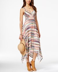 American Rag Printed Empire Waist Handkerchief Hem Maxi Dress Only At Macy's Malaga Combo