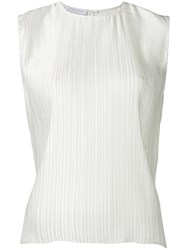 Christian Wijnants Sleeveless Pleated Top Women Polyester 38 White