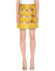 Marco De Vincenzo Skirts Mini Skirts Women Ocher