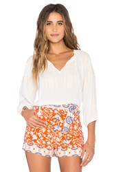 Minkpink Wild Traveler Crop Top Ivory