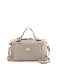 Charles Jourdan Lacy Ii Medium Embossed Suede Satchel Taupe