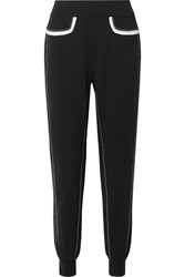 No Ka' Oi Ka'oi Fearless Striped Stretch Track Pants Black