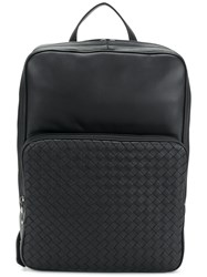 Bottega Veneta Intrecciato Backpack Black