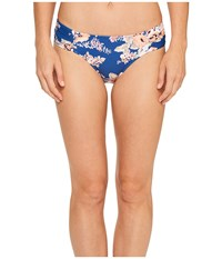 Seafolly Vintage Wildflower Ruched Side Retro Bottom French Blue Women's Swimwear