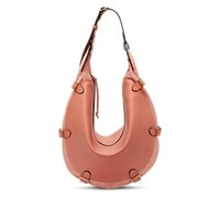 Altuzarra Play Large Leather And Suede Hobo Bag Pink