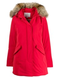Woolrich Hooded Puffer Jacket Red