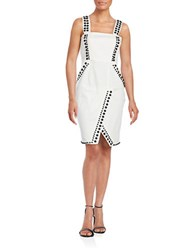 Kendall Kylie Studded Overall Sheath Dress Bright White
