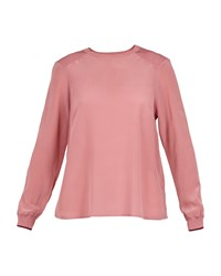 Ted Baker Llilyy Knit Silk Woven Top Pink