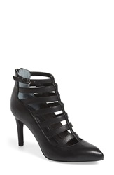 Seychelles 'Drum Kit' Cage Bootie Women Black Leather