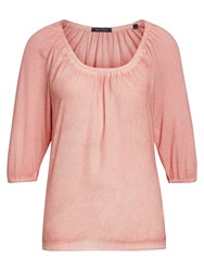 Marc O'polo Blouse Top Viscose Silk Mix Pink