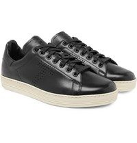 Tom Ford Warwick Perforated Leather Sneakers Black