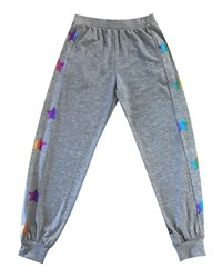 Terez Rainbow Star Foil Jogger Pants Multi