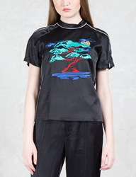Opening Ceremony Silk Embroidered Bonsai T Shirt