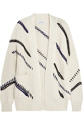Elizabeth And James Embroidered Cotton Cardigan White