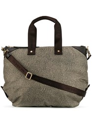 Borbonese Printed Tote Bag Neutrals