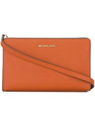 Michael Michael Kors Jet Set Travel Crossbody Bag Yellow Orange