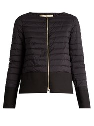 Herno Waterproof Collarless Quilted Jacket Black
