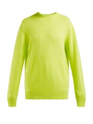 The Elder Statesman Round Neck Cashmere Sweater Yellow
