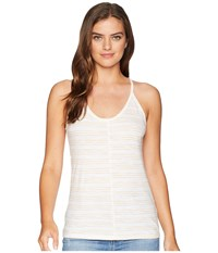 Lilla P Camisole Goldenrod Stripe Sleeveless White
