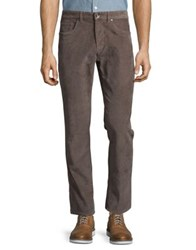 Black Brown Straight Leg Corduroy Pants Feather Grey