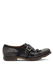 Church's Shanghai W Distressed Leather Loafers Black
