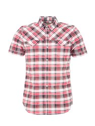 Garcia Cotton Check Print Shirt Raspberry