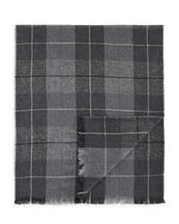 Bloomingdale's The Men's Store At Lightweight Cashmere Block Plaid Scarf Grey