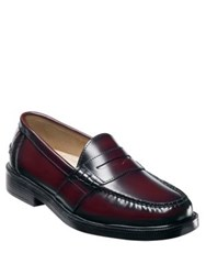 Nunn Bush Lincoln Leather Penny Loafers Burgundy