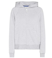 Tory Sport Cotton And Cashmere Blend Hoodie Grey