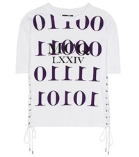 Mcq By Alexander Mcqueen Printed Cotton T Shirt White