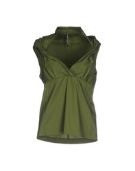 Liviana Conti Topwear Tops Women Military Green