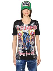 Dsquared2 Printed Cotton Jersey T Shirt