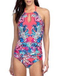 Kenneth Cole Reaction Tropical Tendencies Halter Neck Tankini Top Cherry