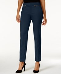 Charter Club Zip Pocket Ankle Pants Only At Macy's Intrepid Blue
