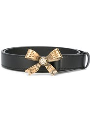 Gucci Bow Embellished Belt Black