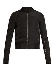 Rick Owens Patch Pocket Technical Bomber Jacket Black