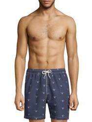 Barbour Beacon Print Swim Shorts Navy