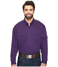 Roper Big Tall 0564 Vice Roy Paisley Button Purple Men's Clothing