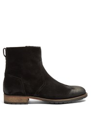 Belstaff Attwell Burnished Suede Boots Black