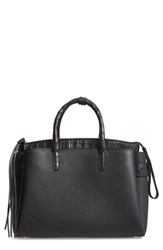 Nancy Gonzalez Cristie Leather And Genuine Crocodile Satchel Black Black Matte