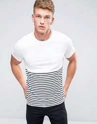 Jack And Jones Core T Shirt With Curved Back Hem White