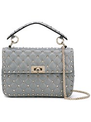 Valentino Garavani Rockstud Spike Crossbody Bag Women Leather One Size Grey