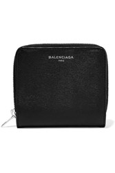 Balenciaga Essential Textured Leather Wallet Black
