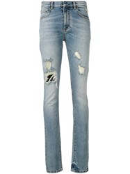 Faith Connexion Faded Distressed Jeans Blue