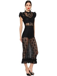 Dolce And Gabbana Sheer Lace Dress
