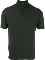 Zanone Shortsleeved Polo Shirt Green