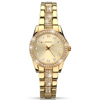 Sekonda 2020.27 Women's Diamante Bracelet Strap Watch Gold