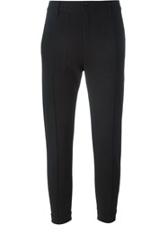 Y 3 Cropped Trousers Black
